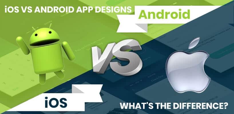iOS vs Android mobile app design